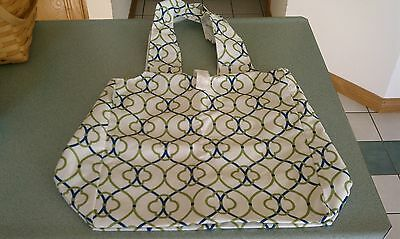 Longaberger Sisters Market Fabric Tote bag in Coastal Gate NEW in hand