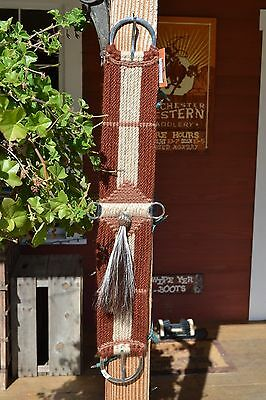 100% Mohair Vaquero Style Girth/Cinch w/Shu-Fly -Rusty Brown/Natural/Tan- 34""