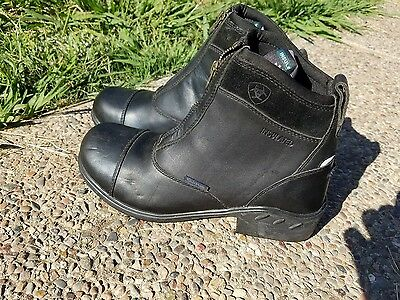 ariat paddock boots water proof size 7.5