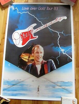 Dire Straits Love Over Gold Uk Promo Tour Poster 1983