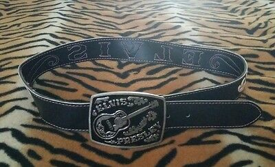 """ELVIS Presley PAUL FRANK Thats All Right belt BROWN and PINK Size Small 37"""" usa"""