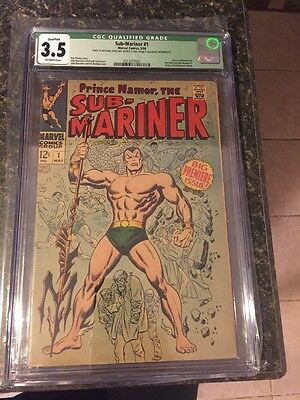 SUB-MARINER #1 CGC 3.5 KEY ISSUE MARVEL COMICS 1968 Free Shipping
