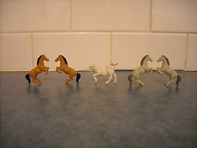 Lot Toy Miniature Doll House Mini Whinnie Farm Animal Rearing Horses  Calf Marx