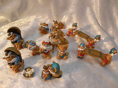 Kinder Surprise 1996 Lot Of 12 Cairo Cats 10 Figures Plus Spares See Pictures