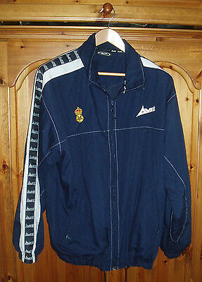 Vintage Derbyshire Cricket Tracksuit Top Jacket Avec Large Retro Rare