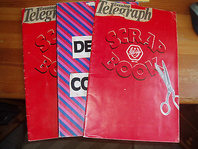 3 X Derby County Scrapbooks 1980S And 1990S Handmade Derby Telegraph Rams Dcfc