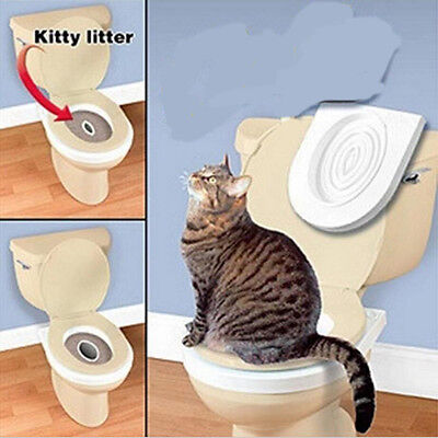 Cat Potty Training Litter Sand Box Toilet-For-Cat Plastic Tray Nip kitty 2017