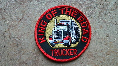 Aufnäher King of the Road Trucker  LKW  (Nr.892)