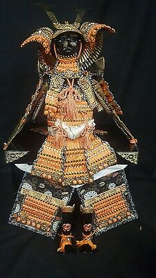"Kabuto Yoroi Boys Day Doll Japanese Samurai Armor Warrior 25"" w/Box EXCELLENT"