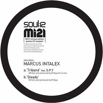 "MARCUS INTALEX - Triband 12"" Vinyl. Soulr. SPY Drum and Bass"
