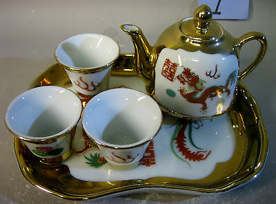 Chinese Jing De Zhen miniature tea set