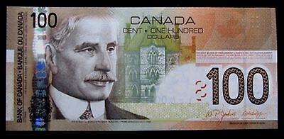 """canada""100 Dollars P105 2004-2006""borden Satellite Boat Map""unc Money Bank Note"