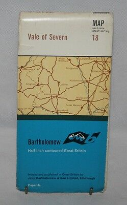 Bartholomew - Half-inch Contoured Map - Vale of Severn - Sheet 18 - 1968