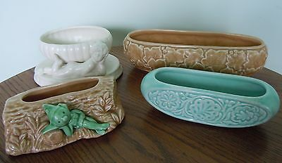4 Vintage Sylvac  Posy Holders/ornaments/small Troughs