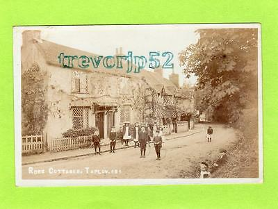 Rose Cottages Taplow Nr Cookham Maidenhead RP pc used 1906 Bill Series Ref C398
