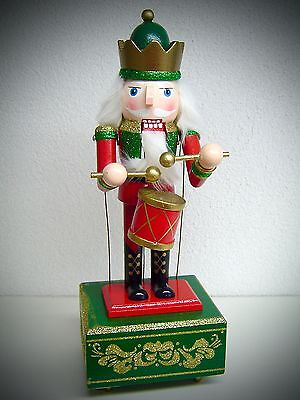 Nutcracker with Music Box and Movement Drummer 32 cm Movement 30048