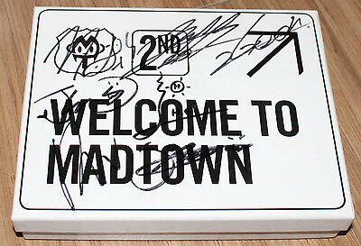 Madtown Welcome to MADTOWN 2nd Mini Album K-POP REAL SIGNED AUTOGRAPHED PROMO CD