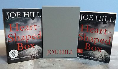Heart-Shaped Box *SIGNED* 2 Books, Joe Hill, 1st, First Edition + ARC (Slipcase)