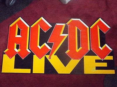 Acdc Live 1992 Logo Large Standee Angus Malcom Young Brian Johnson Phil Rudd