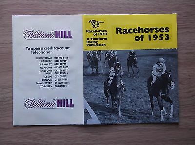 "Timeform ""racehorses Of 1953"" Made Up Dust Jacket"
