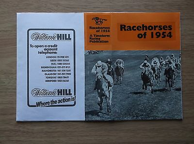 "Timeform ""racehorses Of 1954"" Made Up Dust Jacket"