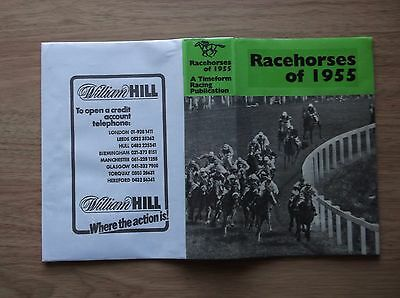 "Timeform ""racehorses Of 1955"" Made Up Dust Jacket"