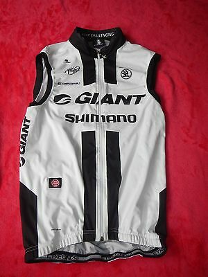 Original Pro Team Giant Shimano Wind Weste Gore Tex ärmellos Größe L Top Rar
