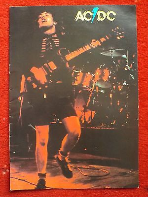 Acdc Rare 1978 Powerage Tour Programme Bon Scott Angus Malcolm Young Phil Rudd