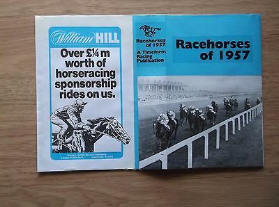 "Timeform ""racehorses Of 1957"" Made Up Dust Jacket"