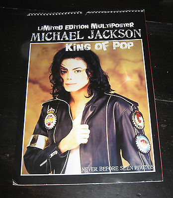 Michael Jackson HUGE POSTER BOOK Limited Edition 14 Multi PHOTOS