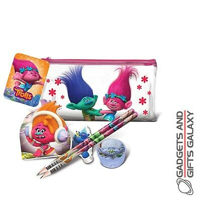 TROLLS FLAT FILLED PENCIL CASE school stationery childs kids toy gift