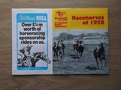 "Timeform ""racehorses Of 1958"" Made Up Dust Jacket"