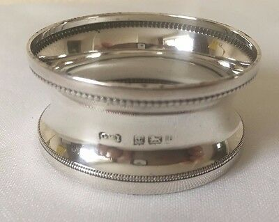 Antique Hallmarked Solid Silver Napkin Ring 1919 G H Inshaw