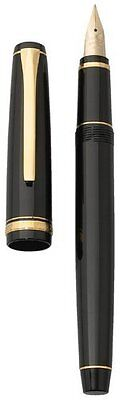 Pilot Namiki Falcon Fountain Pen Black Gold Fine 14k Nib 60152