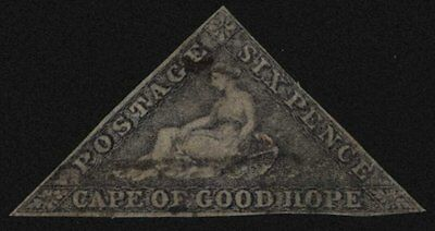 Cape of Good Hope 1862 6d Slate Lilac Blued Paper , Triangle , SG 7c , Cat £500