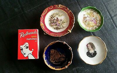 Group of 4 Miniature Limoges plates