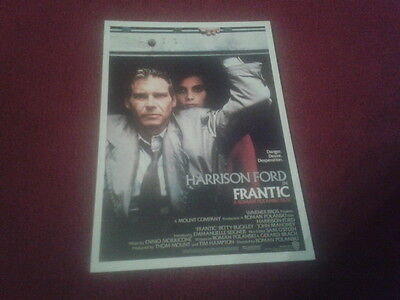 "Carte Postale / Postcard Cinema Affiche Du Film ""frantic"""