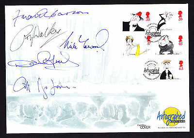 Famous Comedian British Comedy 1998 First Day Cover Autograph Signed FIVE TIMES