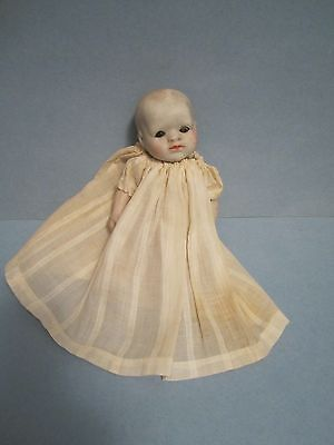 """Early Vintage  6 3/4"""" Japanese All Bisque Baby Doll"""