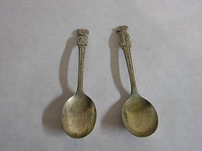 Old Dennis the Mennis and Yogi Bear metal spoons