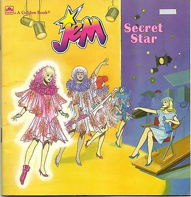 1980s Golden Books Jem and the Holograms Secret Star Softcover Book