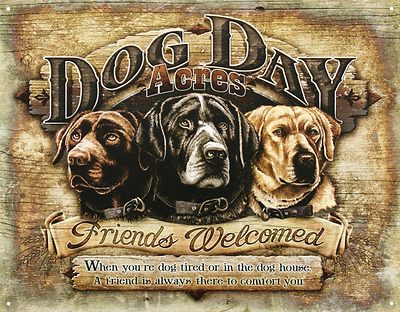 Dog Day Acres Tin Sign 13 x 16in