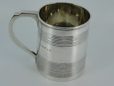 Georgian George Iii Solid Sterling Silver One Pint Tankard Mug London 1815 246G