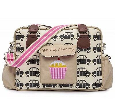 Pink Lining Yummy Mummy Black Cabs Changing Bag + Changing Mat NEW WITH TAGS
