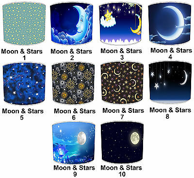 Lampshades Ideal To Match Moon & Stars Wallpaper Border & Moon & Stars Duvets.