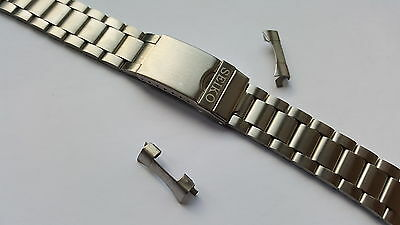 New Seiko Dual 20Mm / 10Mm Stainless Steel Gents Watch Strap (Ss-12)