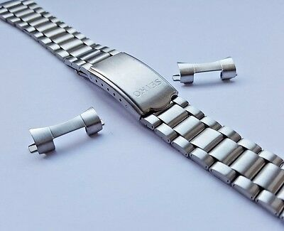 New Seiko Dual 20Mm / 10Mm Stainless Steel Gents Watch Strap (Ss-10)