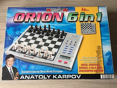 Millennium Orion 6 In 1 Electronic Computer Game Chess Board Games