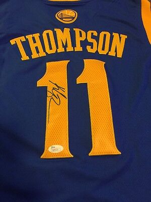 Klay Thompson Signed Golden State Warriors Jersey Jsa authenticated