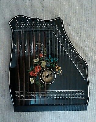 Zither, Hopf 6-chord Vintage German with Tuning Key and Book (same as Musima?)